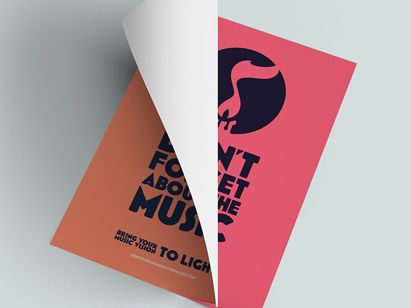 Posters, clean, logo as the hero - in various colors.