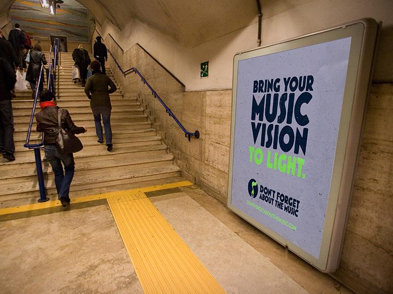 Subway advertisement, tagline as the hero.