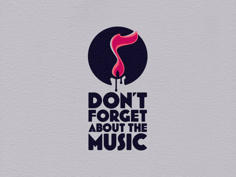 Don't Forget About the Music main logo, clean variant