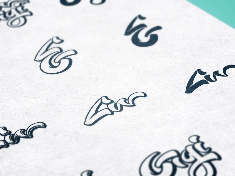 Logo black & white variations detail.