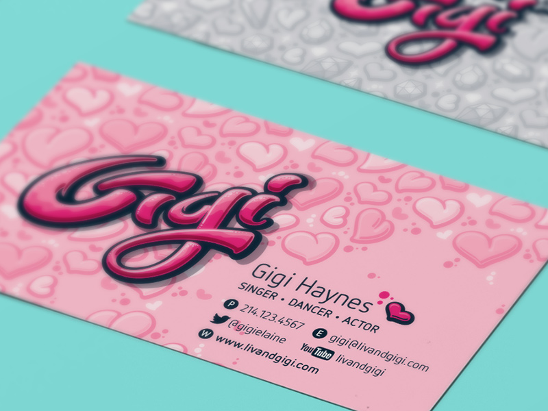 Gigi-specific business card.