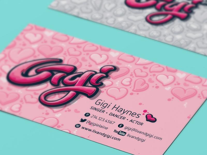 Gigi-specific business card details