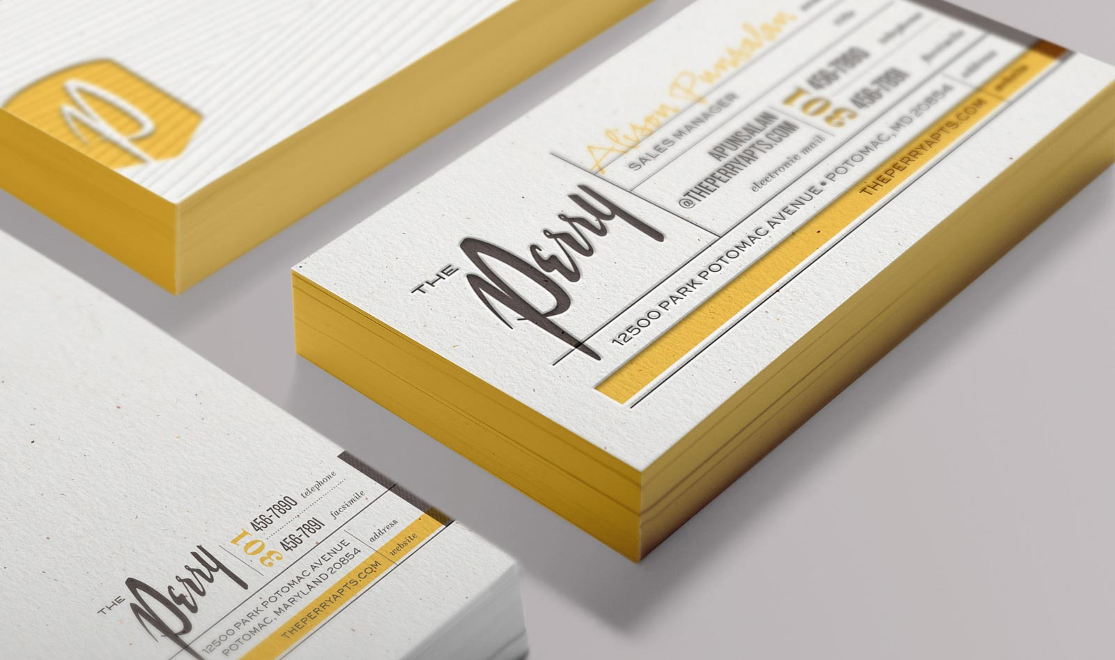 Business cards detail.