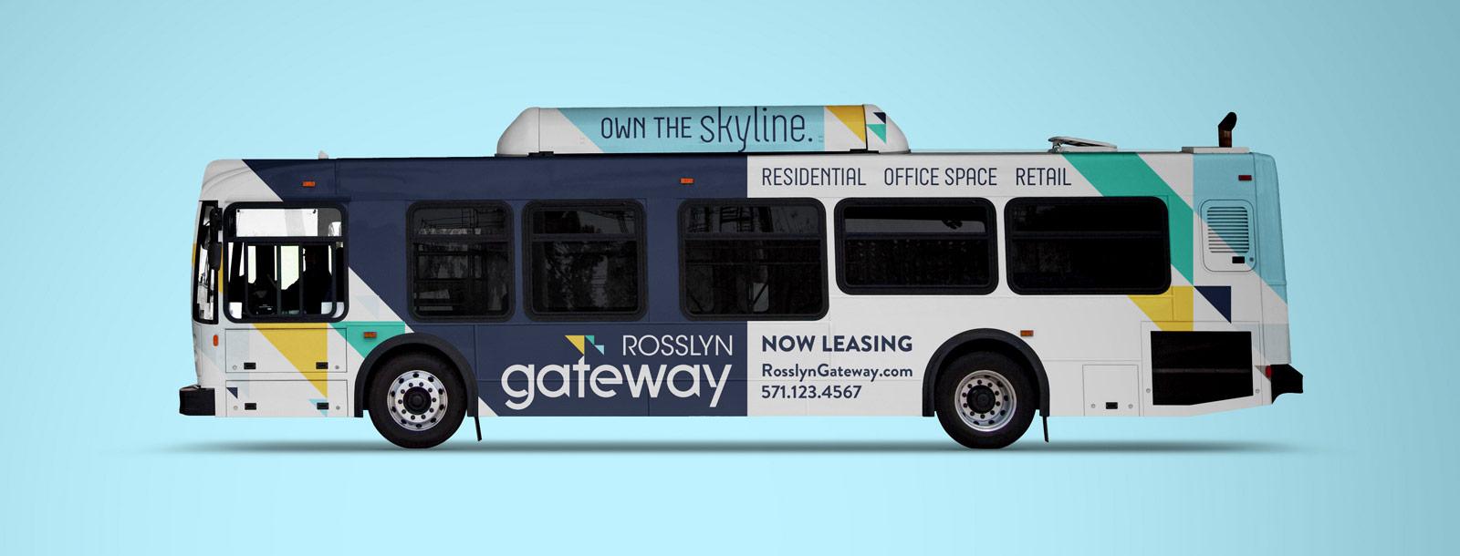 Bus advertising.