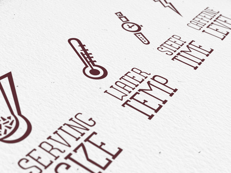 Steep This! packaging icons detail