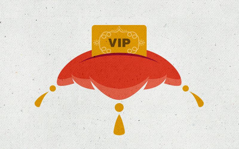 This illustration represents Inspirato's exclusive VIP privileges.