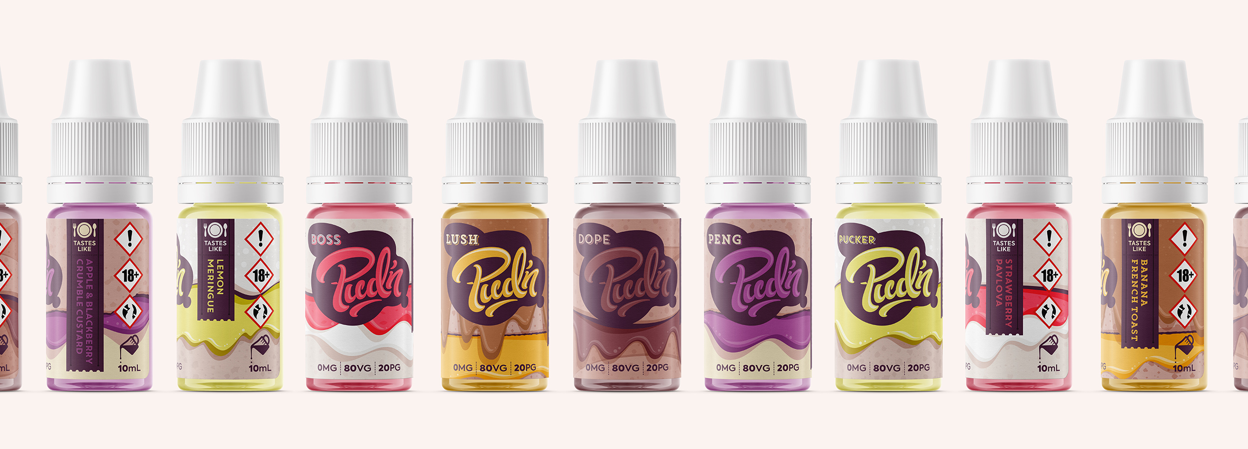 Pud'n by Shoreditch – E-liquid branding & packaging