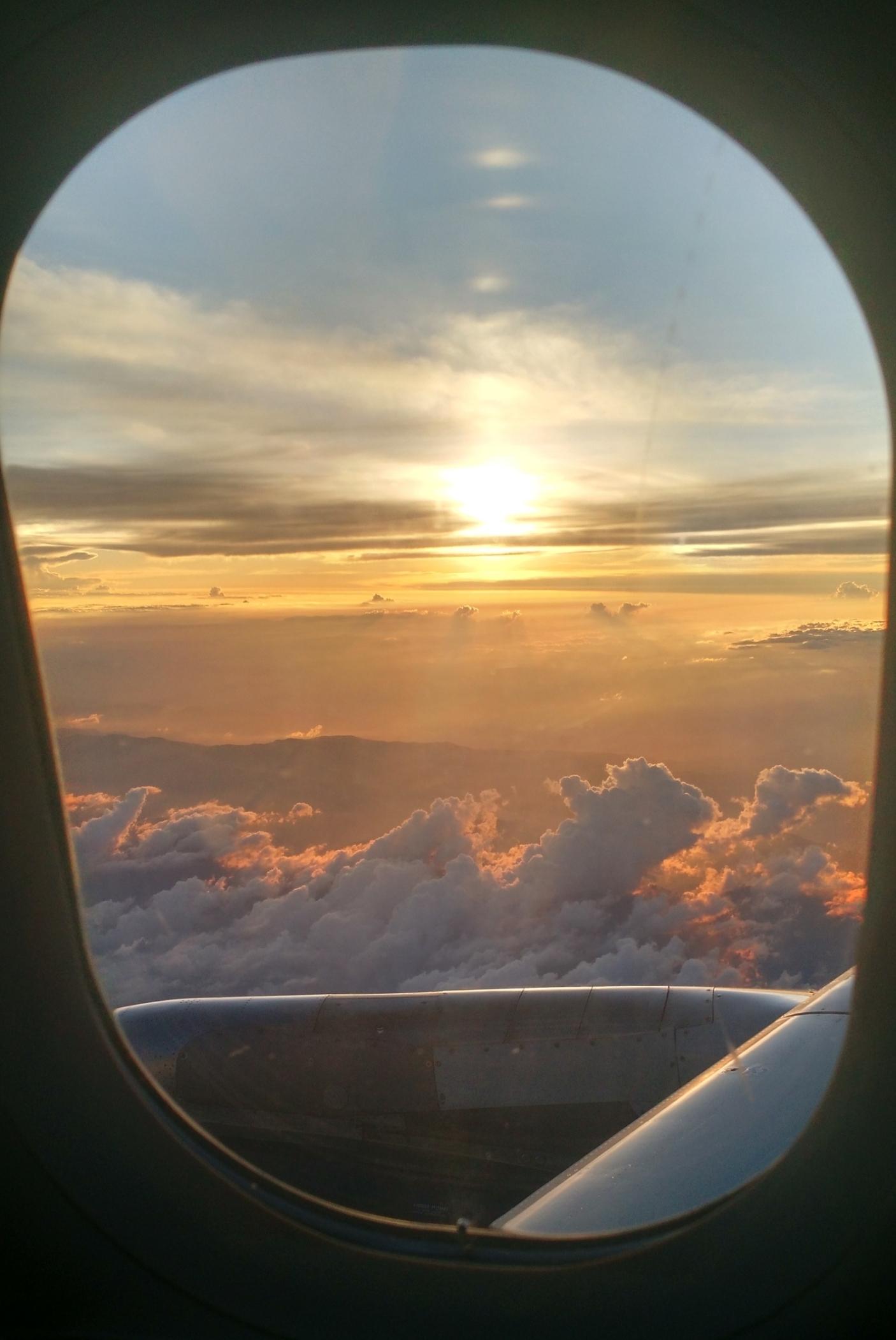 On my flight to Bogotá