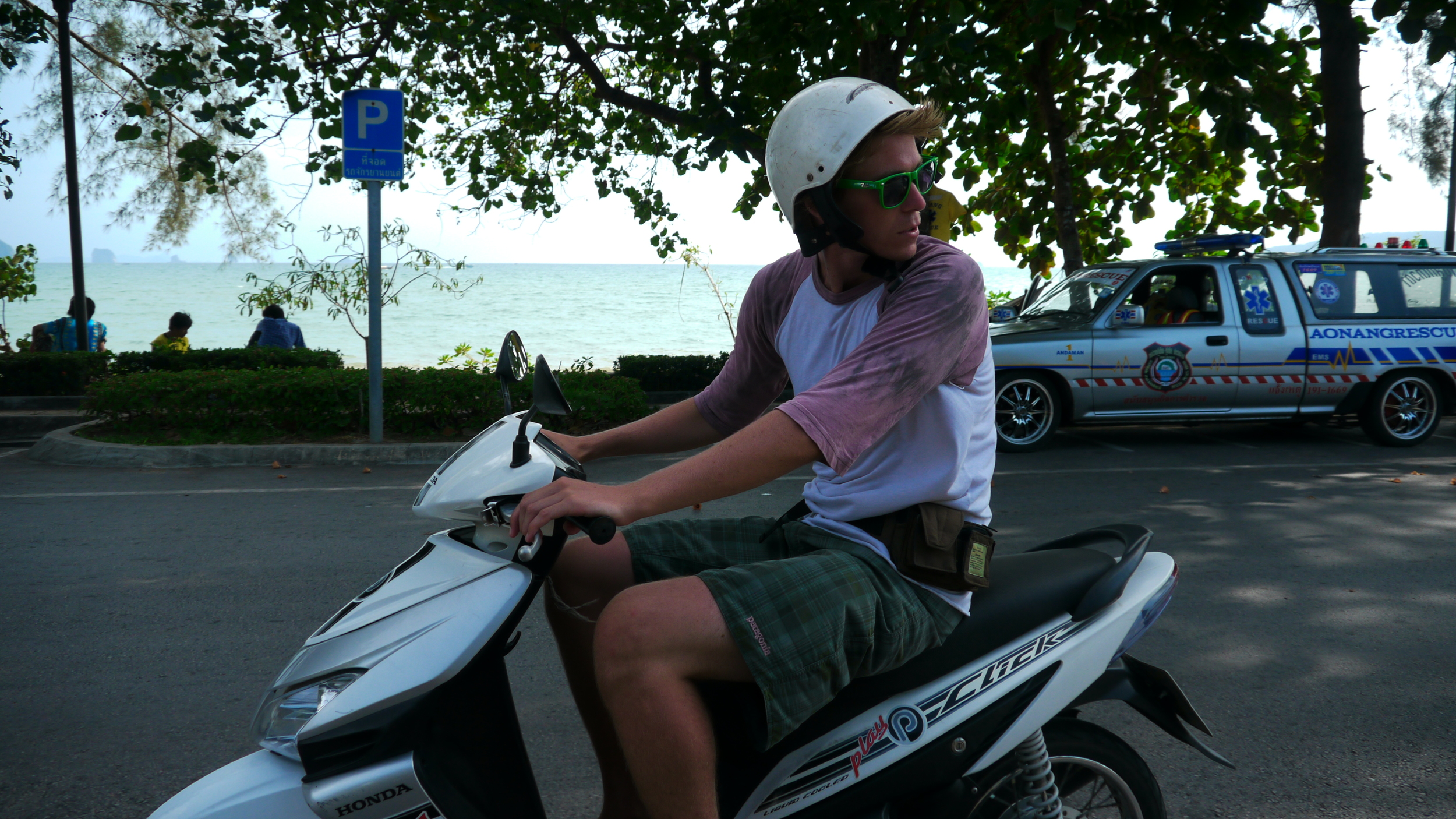 My friends and I rented mopeds and took them all over southwest Thailand.