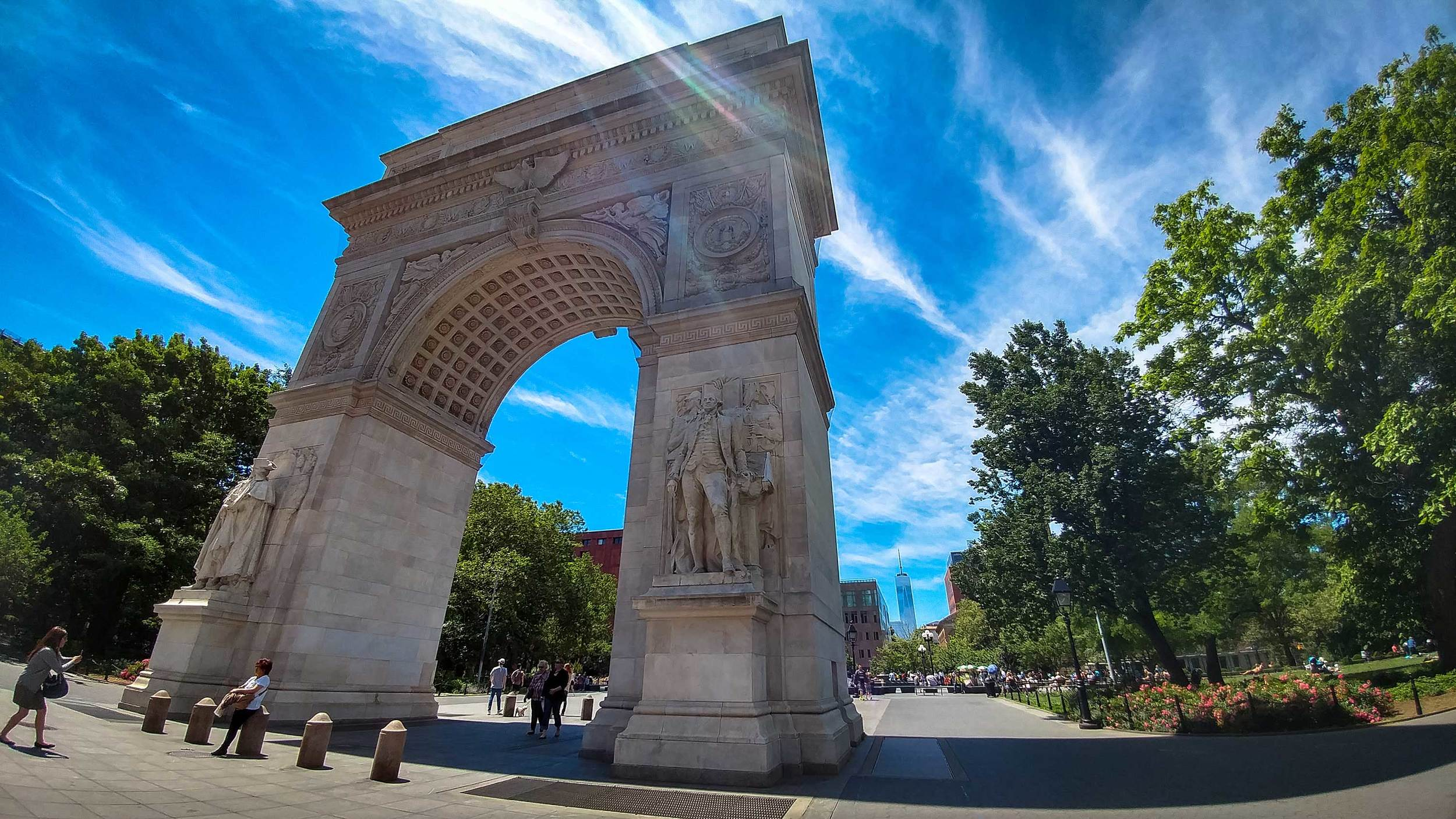 Washington Square Park and the Freedom Tower, Manhattan