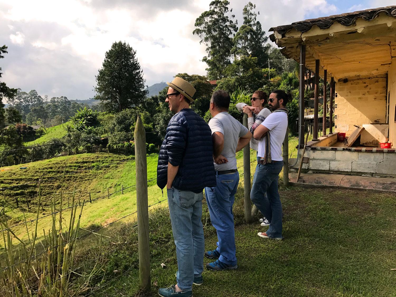 My friends checking out the land in San Antonio de la Pereira