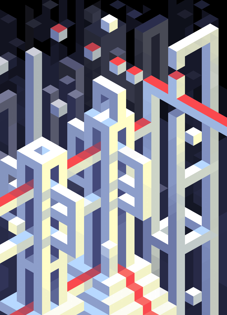 I started playing with  Hexels  today and this is what came out.