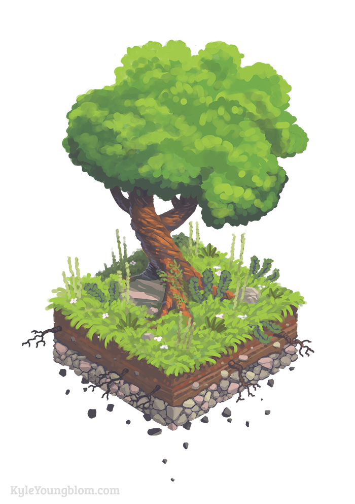 A little isometric tree to round out my 2D games stuff.