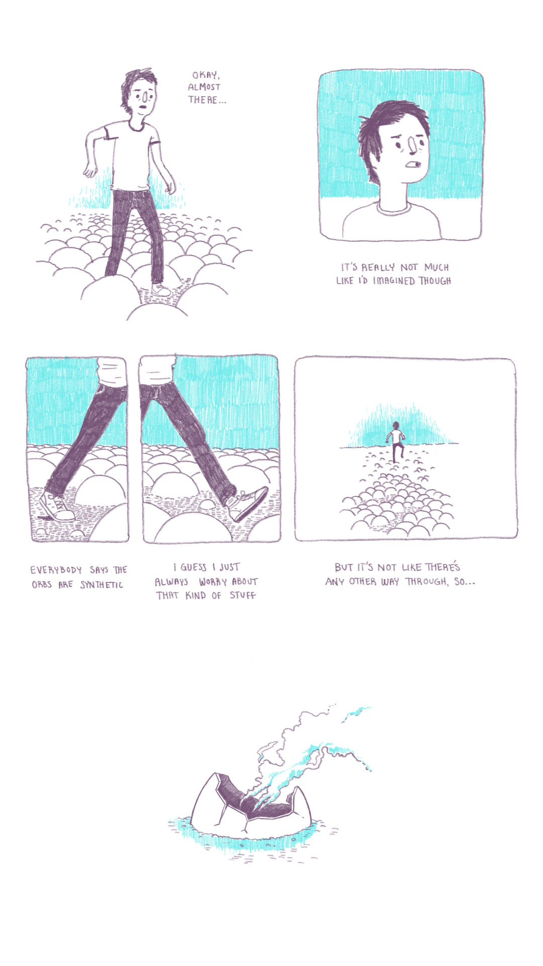 I made a little comic on the plane. Not really sure what it means but I like it.