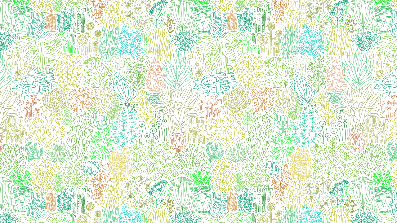 Drawing lots of soothing plant shapes these days