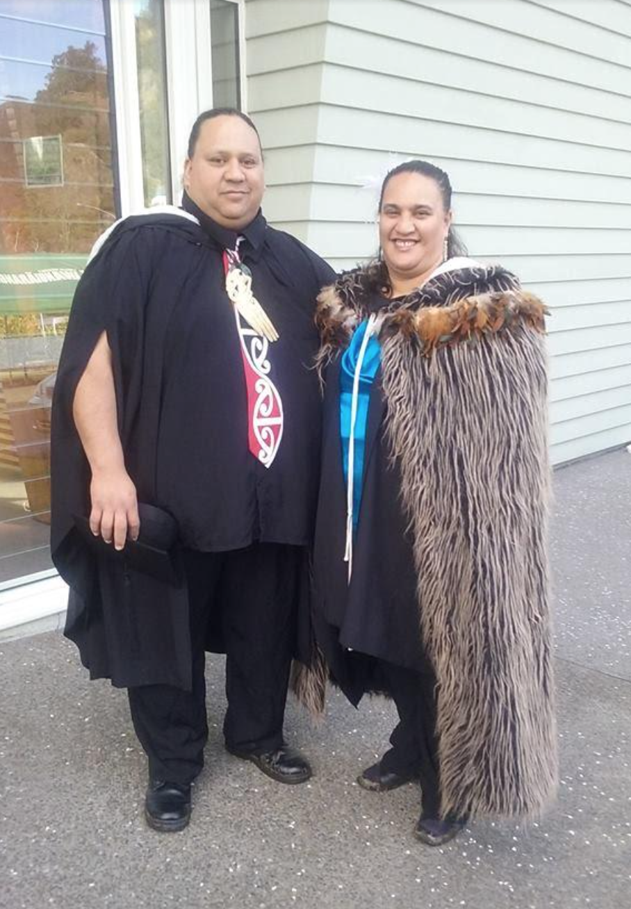 Congratulations to Te Huaki Puanaki and Rochelle Paki in graduating this week with a degree in Māori Performing Arts
