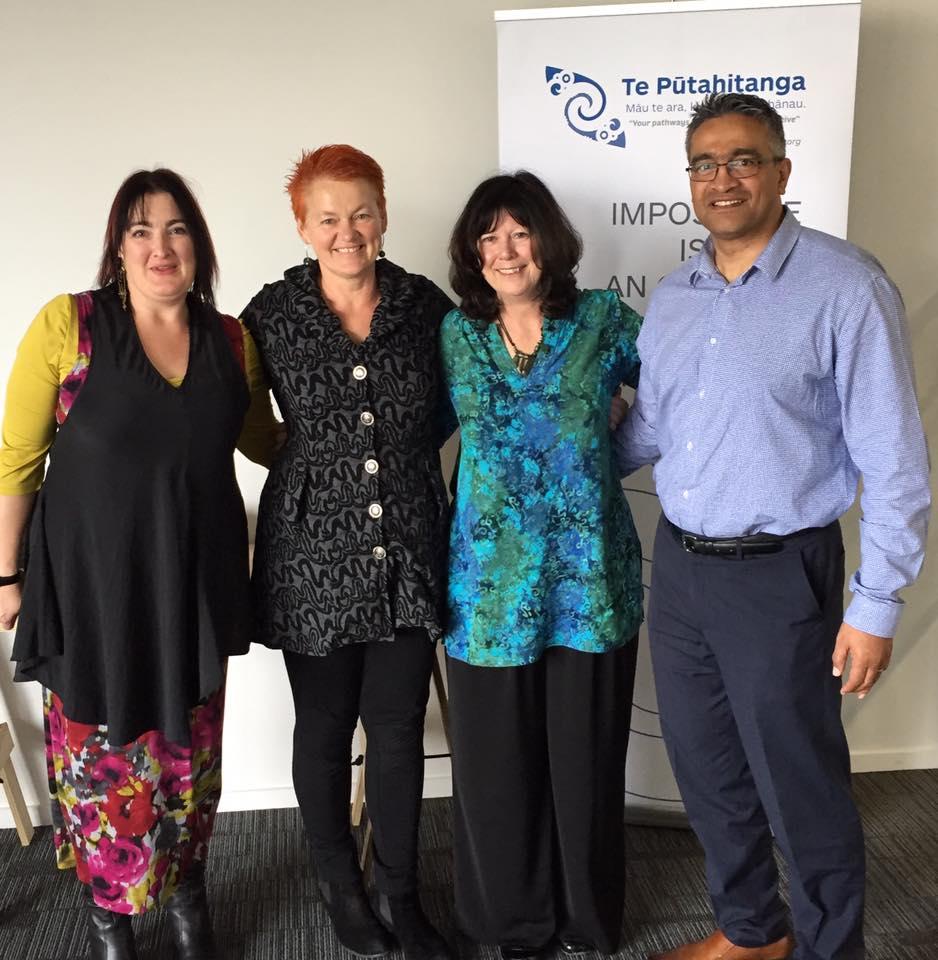 Sarah Clark, Helen Leahy, Kahukore Baker and Donovan Clarke at the SUPERU seminar