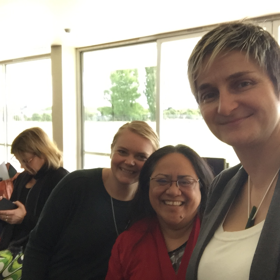 This week we have obviously been stalking Hana O'Regan!! Captured here at the sexual violence prevention hui on Friday, our navigator co-ordinator, Maire Kipa and policy analyst, Alice Matheson