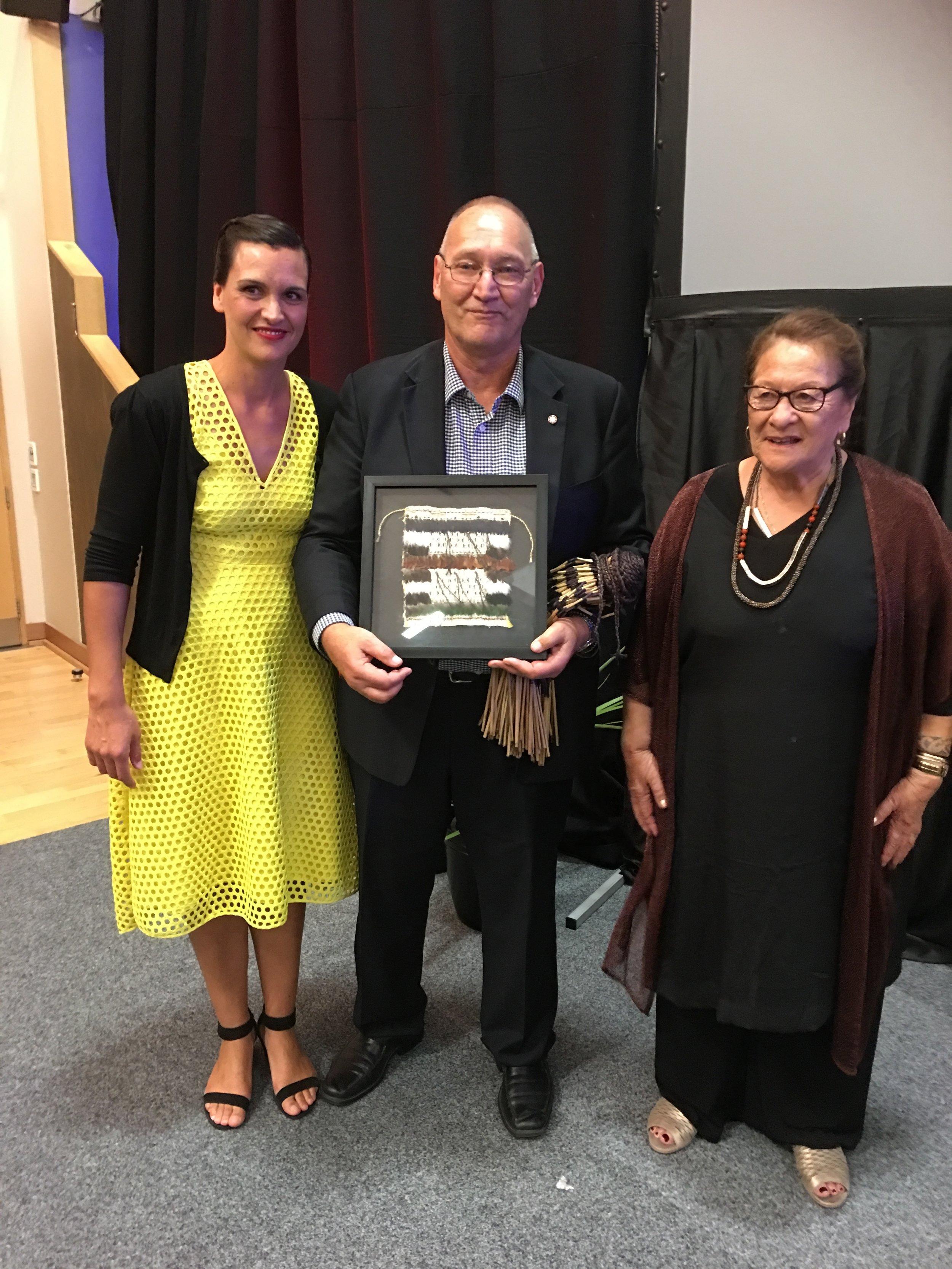 Koha for Ta Mark Solomon on behalf of Ngati Rarua, represented by Chair Olivia Hall and Whaea Molly Luke.