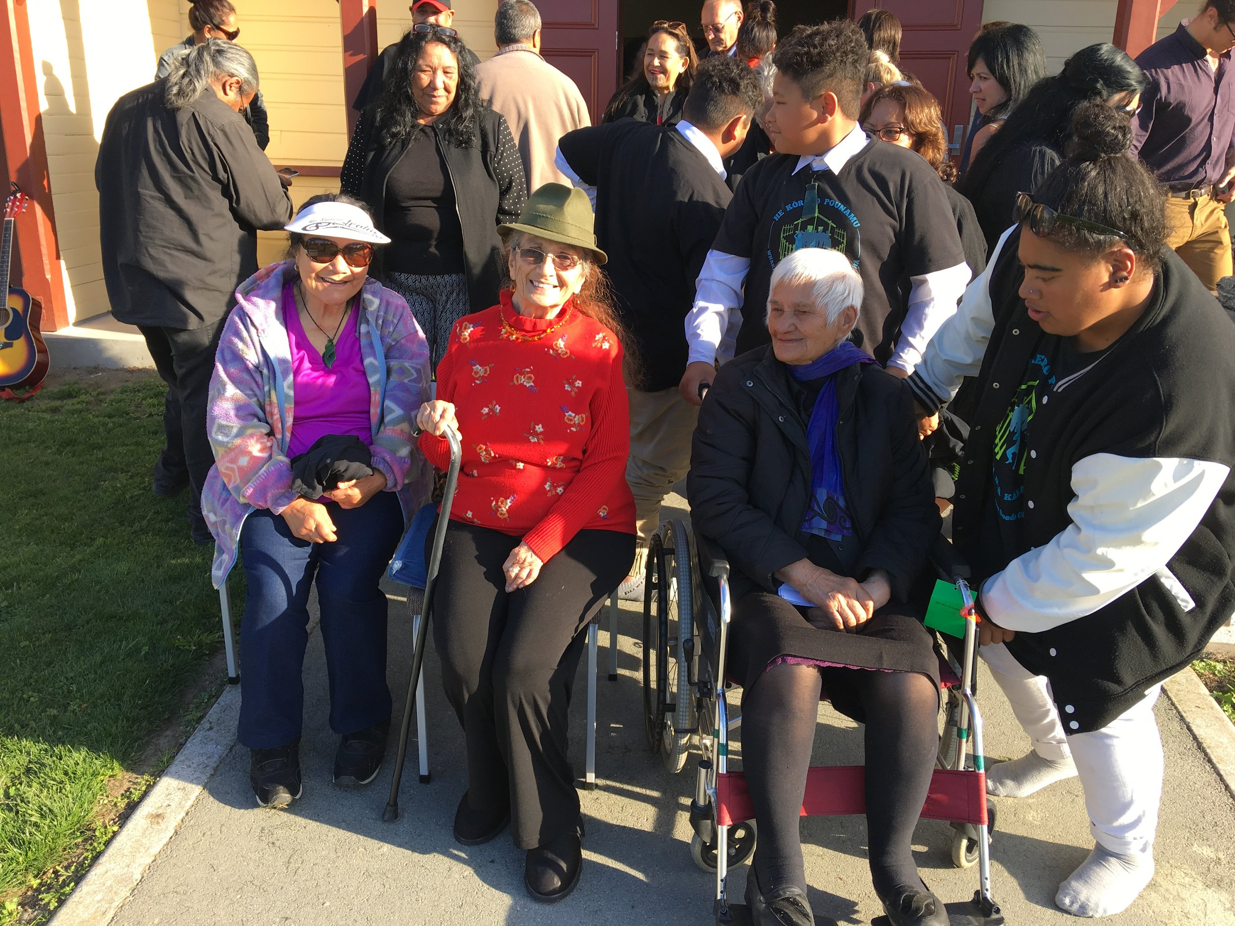 Georgina Reihana Timothy; Hiria Moffatt and Aunty Kiwa Coe-Hutchens