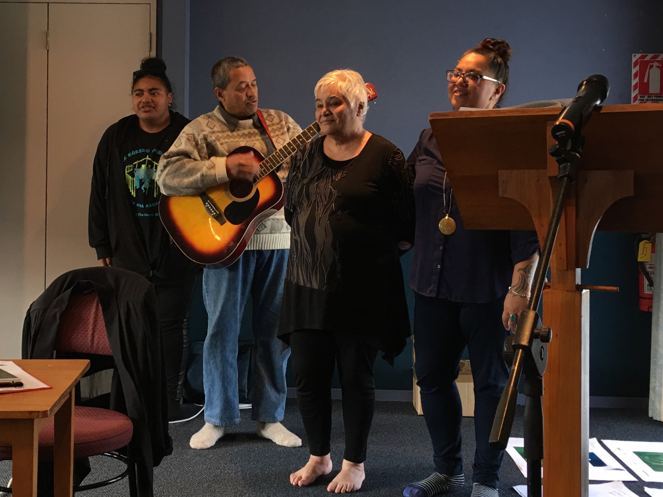 Cheyanne, Daniel, Whaea Tariana and our inspirational MC, Marg Henry