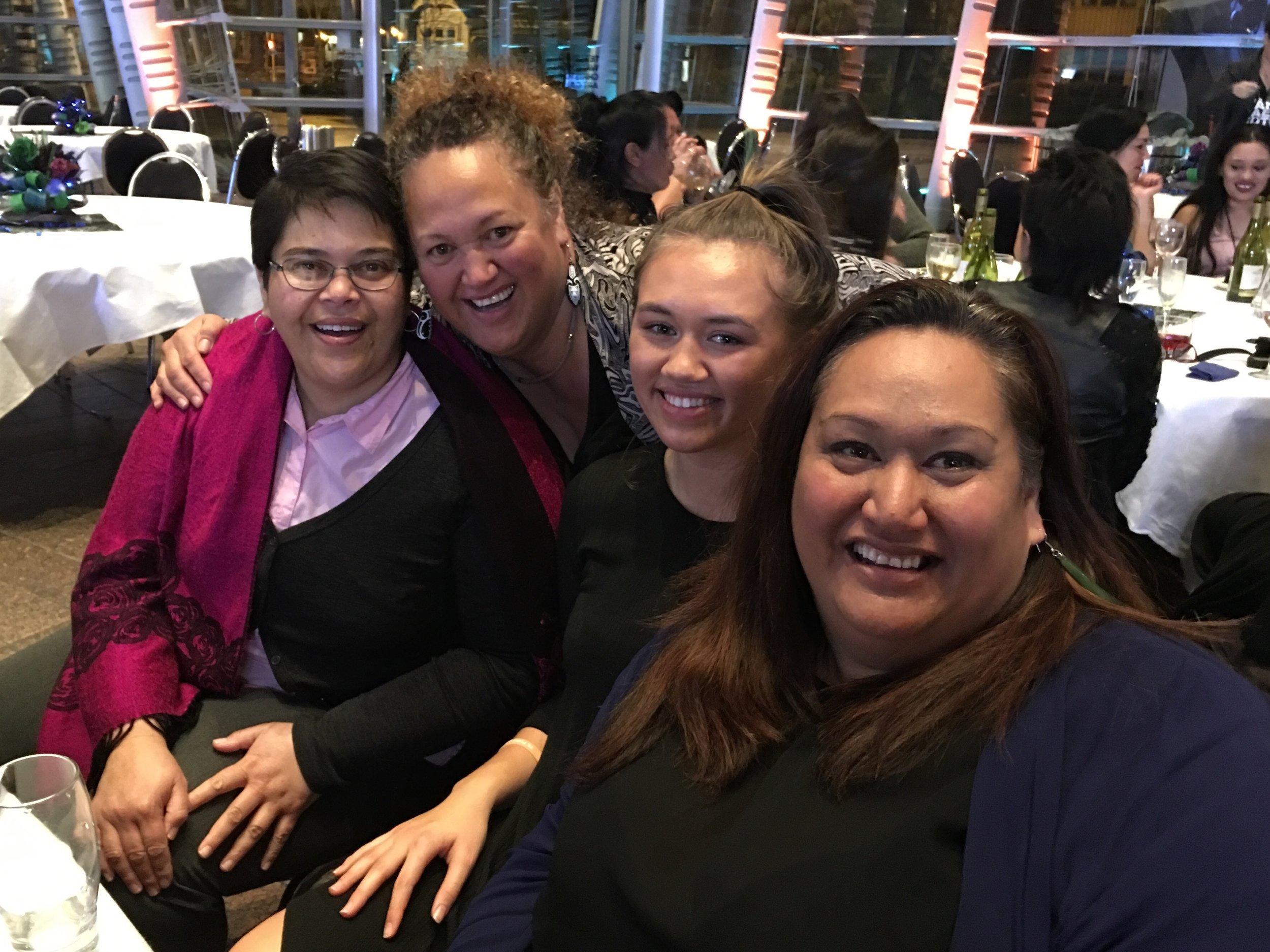 Deana Wilson, Vicki Ratana, Te Puawai Wilson-Leahy, Cazna Luke