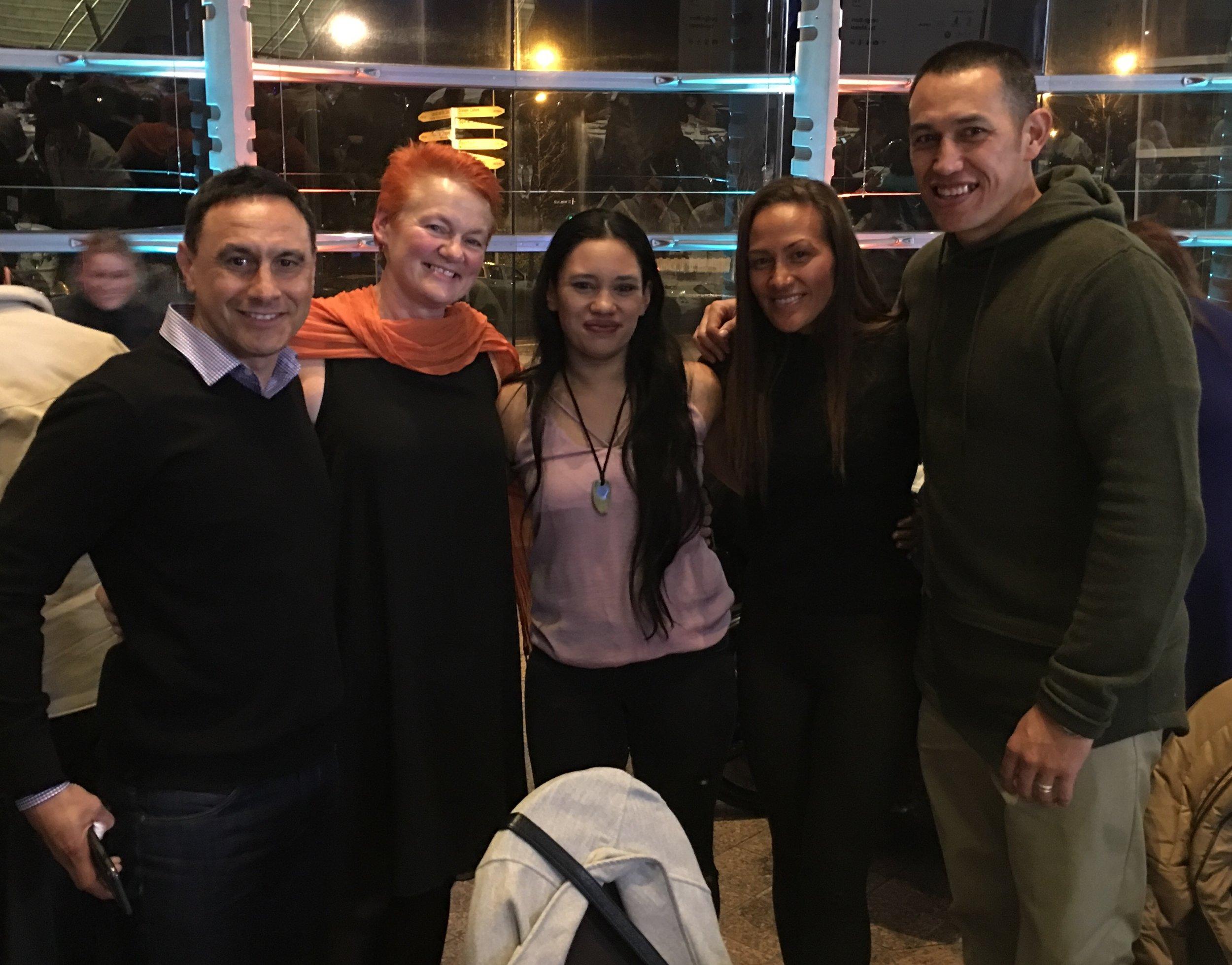 Super coach Karl Waretini with Yoga warrior princess and our HCC Superheroes