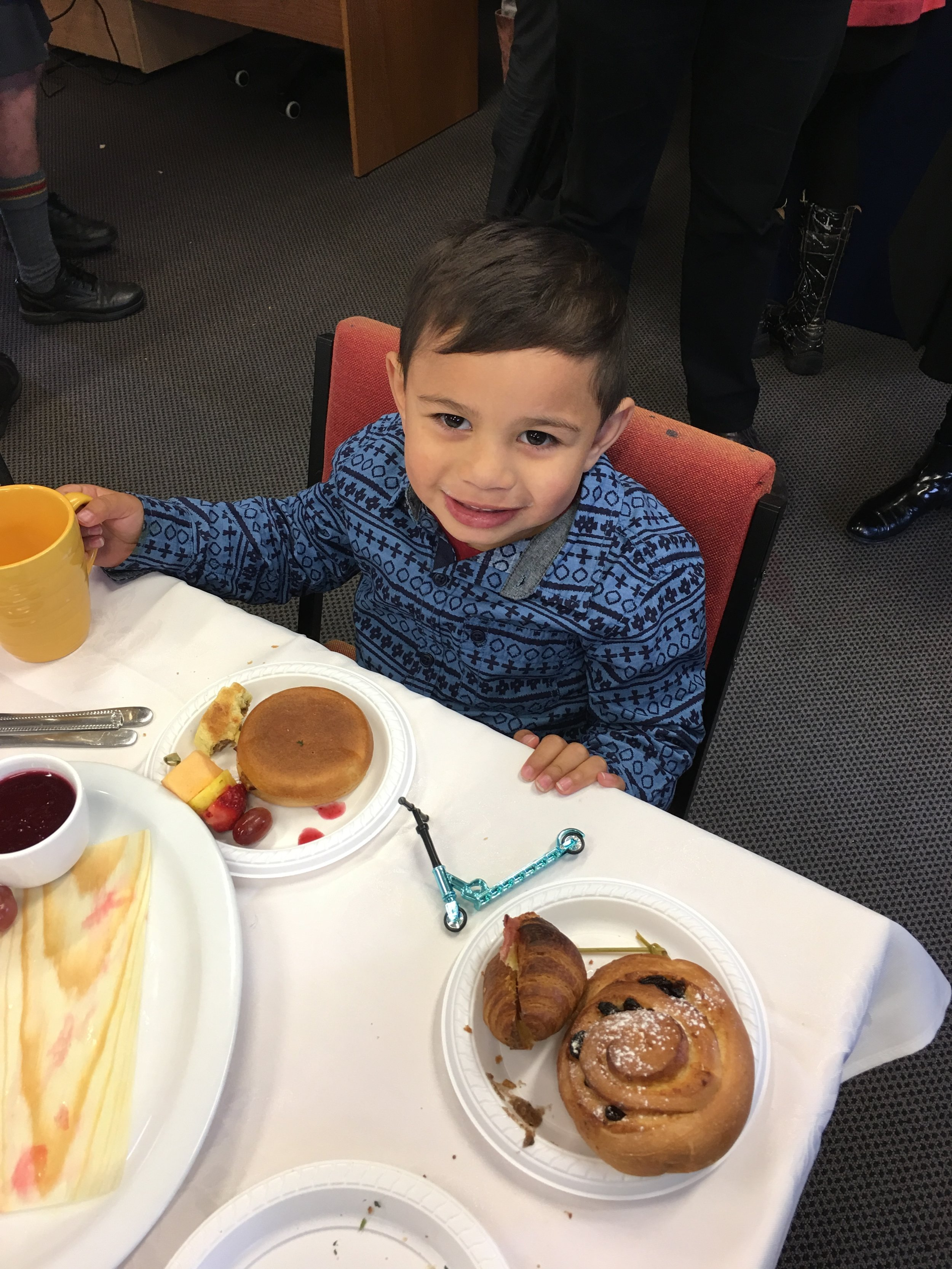 William enjoyed his breakfast almost as much as me!
