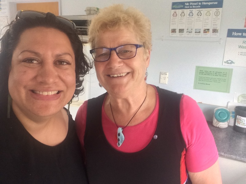 Maania Farrar (Commissioning Manager) with Ann Martin from Te Awhina Marae in Motueka