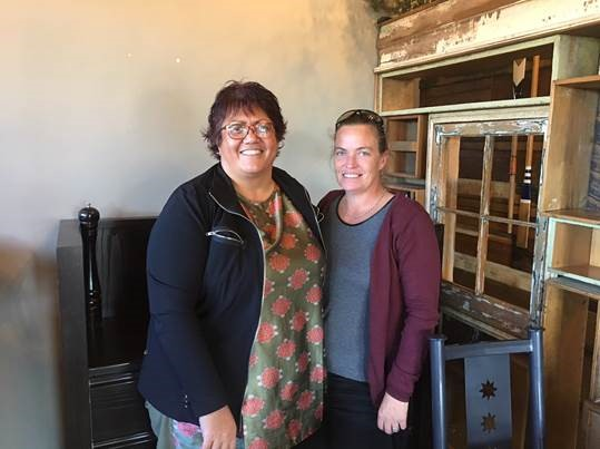 Dee Turner, Maori Liaison / Caseworker from Community Law Marlborough and Jo Edwards of Ward.