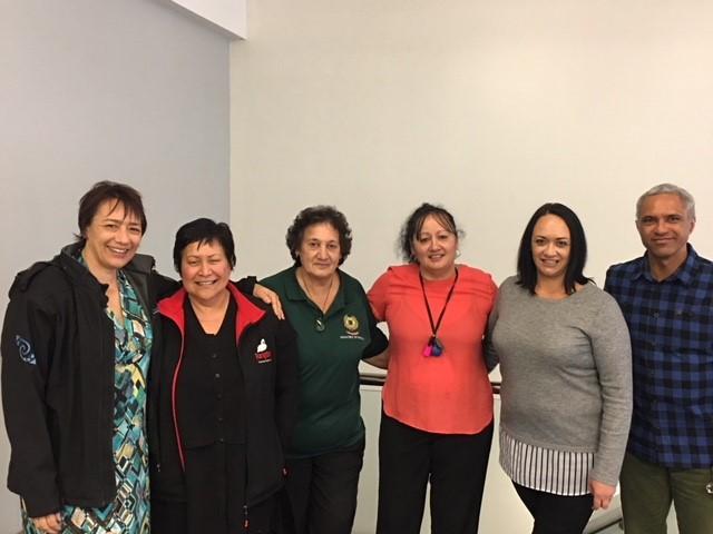 Here's some of the team RaNae (Te Putahitanga ō Te Waipounamu) Amber and Jodie, (Rangitane ō Wairau) and Gemma (Māori Wardens), Lorraine (Ngāti Toa, Ngāti Rarua ) and Te Ra (Te Putahitanga ō Te Waipounamu). (Absent: Lesley – Ngāti Rarua, Johnny, Ngāti Toa)