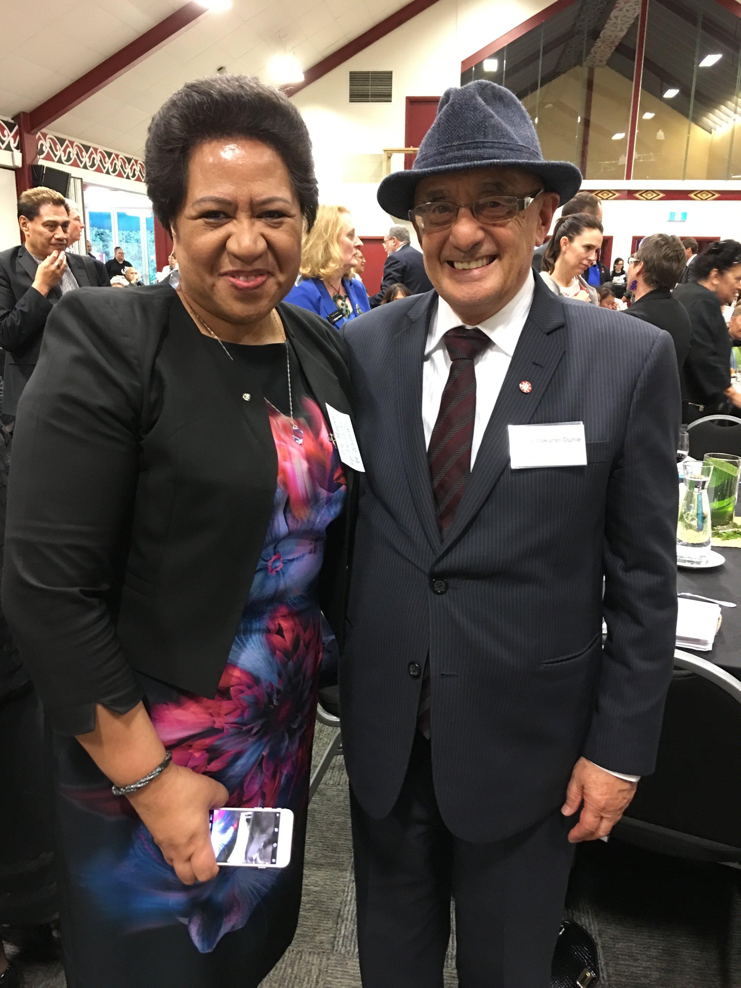 Strategic analyst, Ivy Harper, with Judge Taihakurei Durie