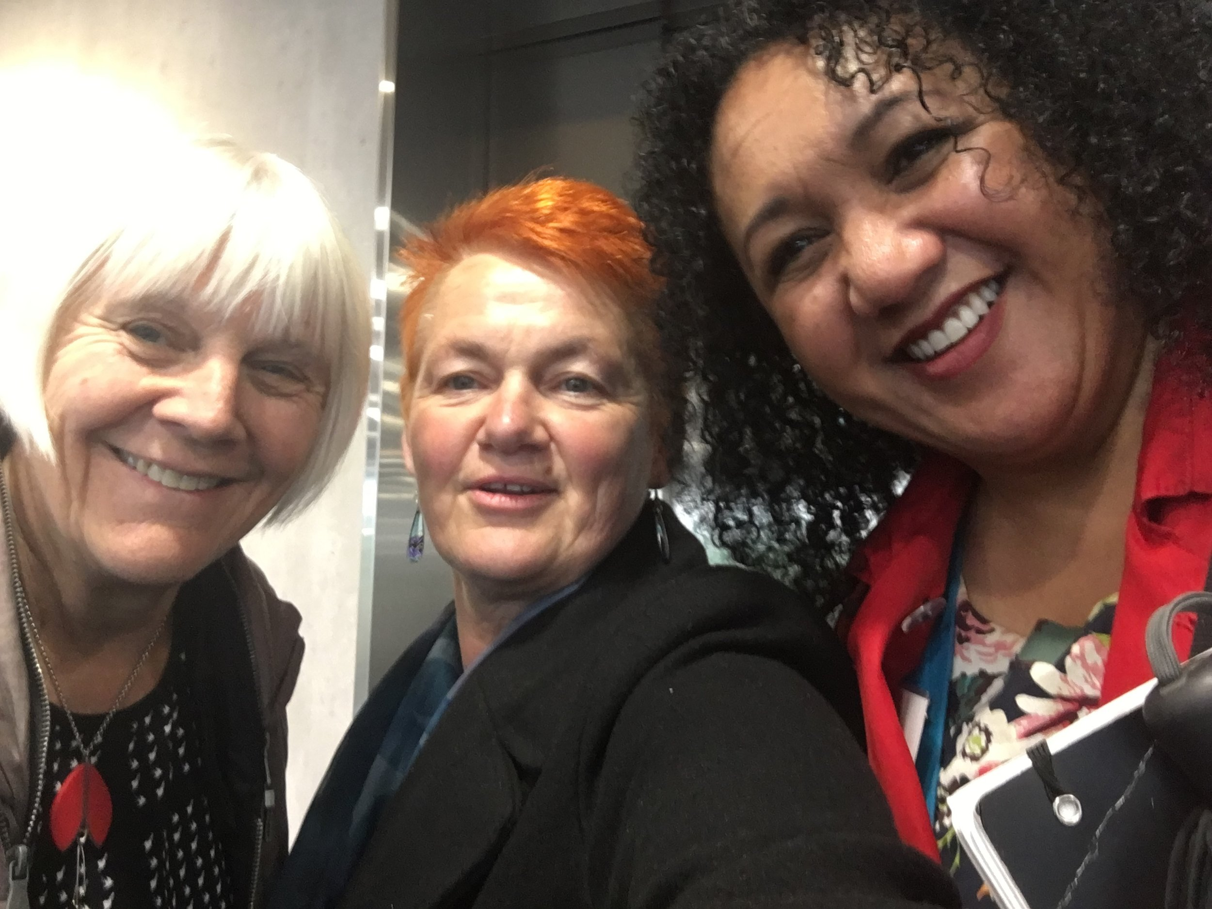 With Gill Coe and Maria Pasene