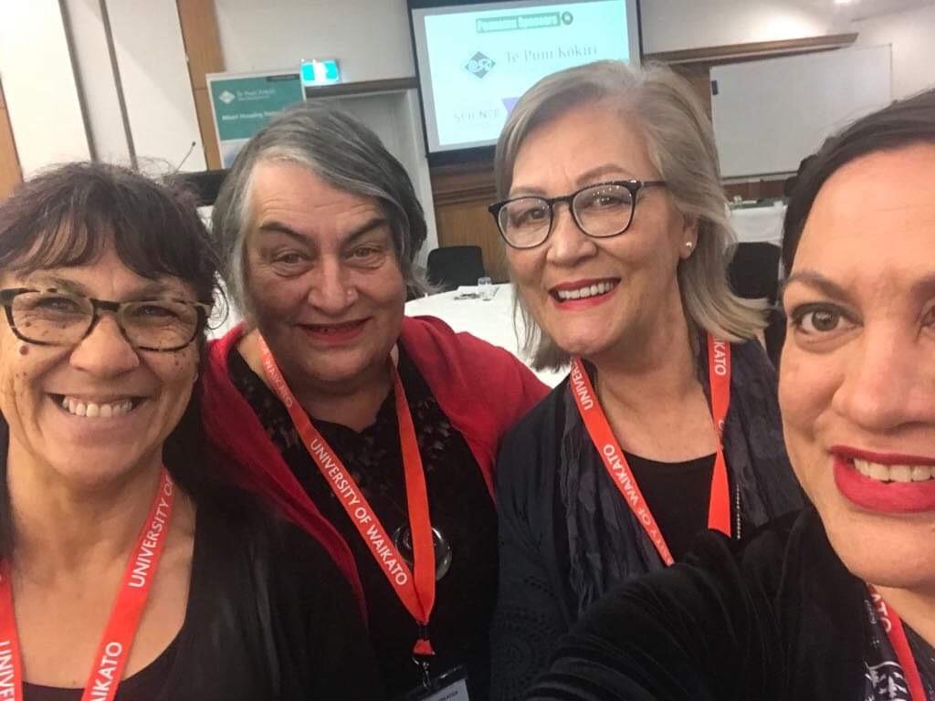 Jennie Apirana (Rural Canterbury PHO), Inupo Farrar, Maria Korako-Tait and Maania Farrar