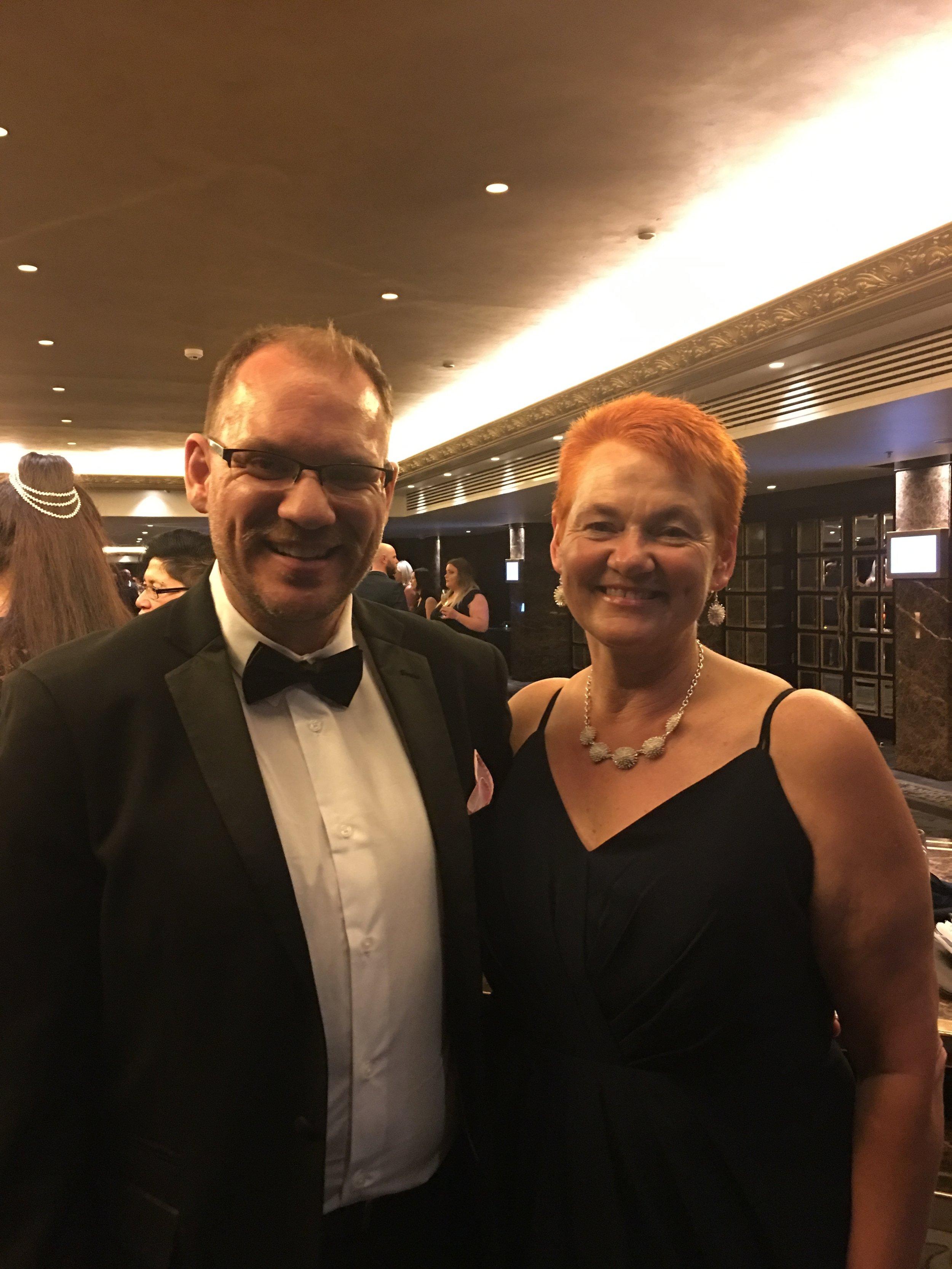 Rawa Karetai and I at the awards