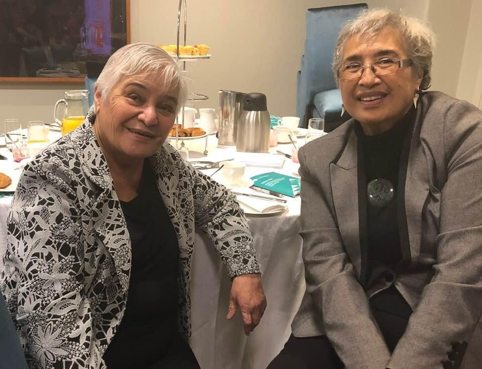 Dame Hon Tariana Turia and Te Ripowai Higgins (Tuhoe)