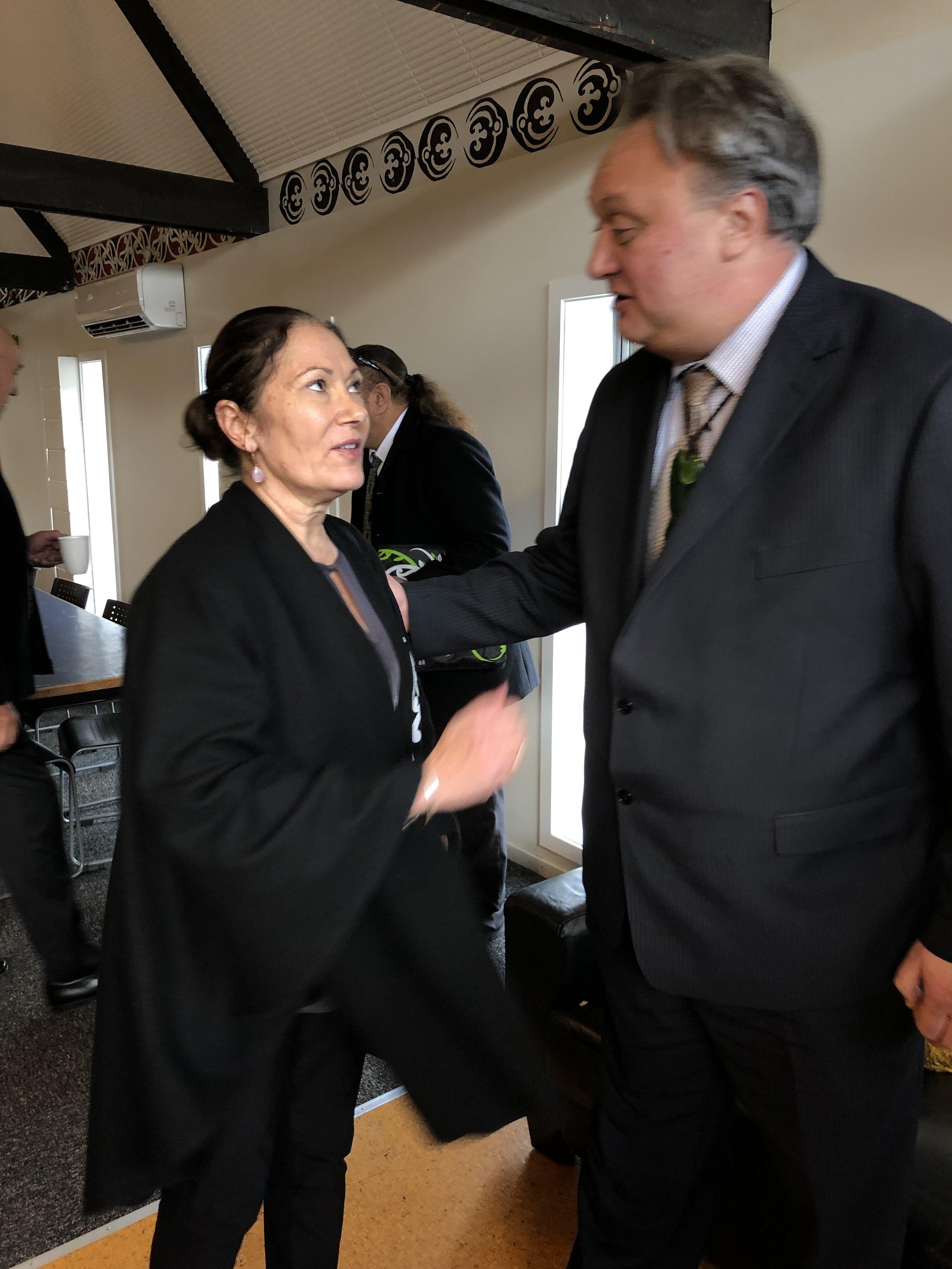 Taumata representative, Jo McLean, with Te Tai Tonga MP, Rino Tirikatene-Sullivan