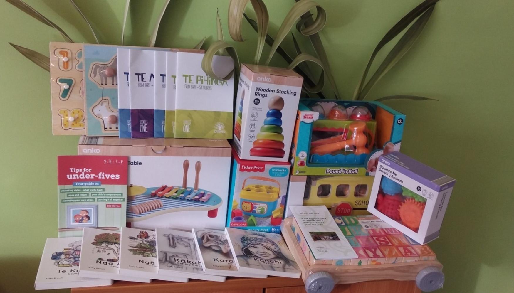Resources gifted to whanau including Otakou created Reo Pepi books