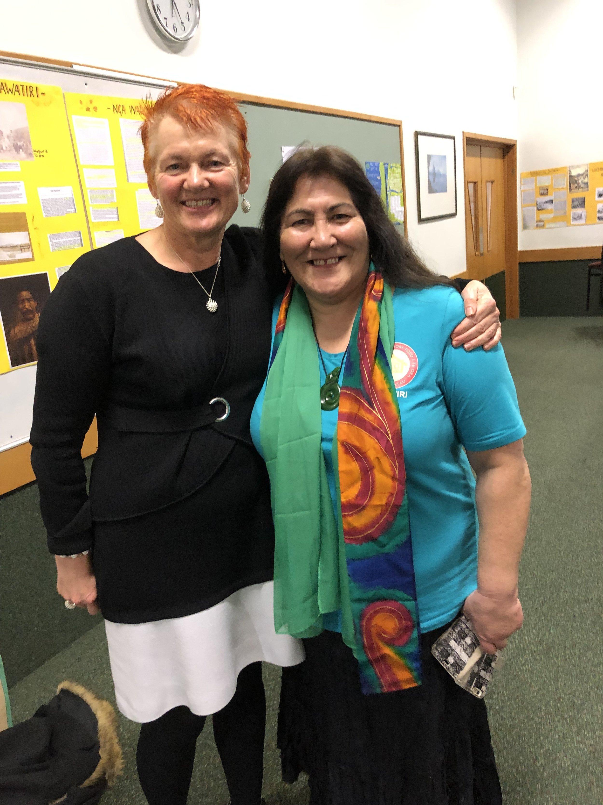 With Kawatiri President, Sharon Arohanui Marsh