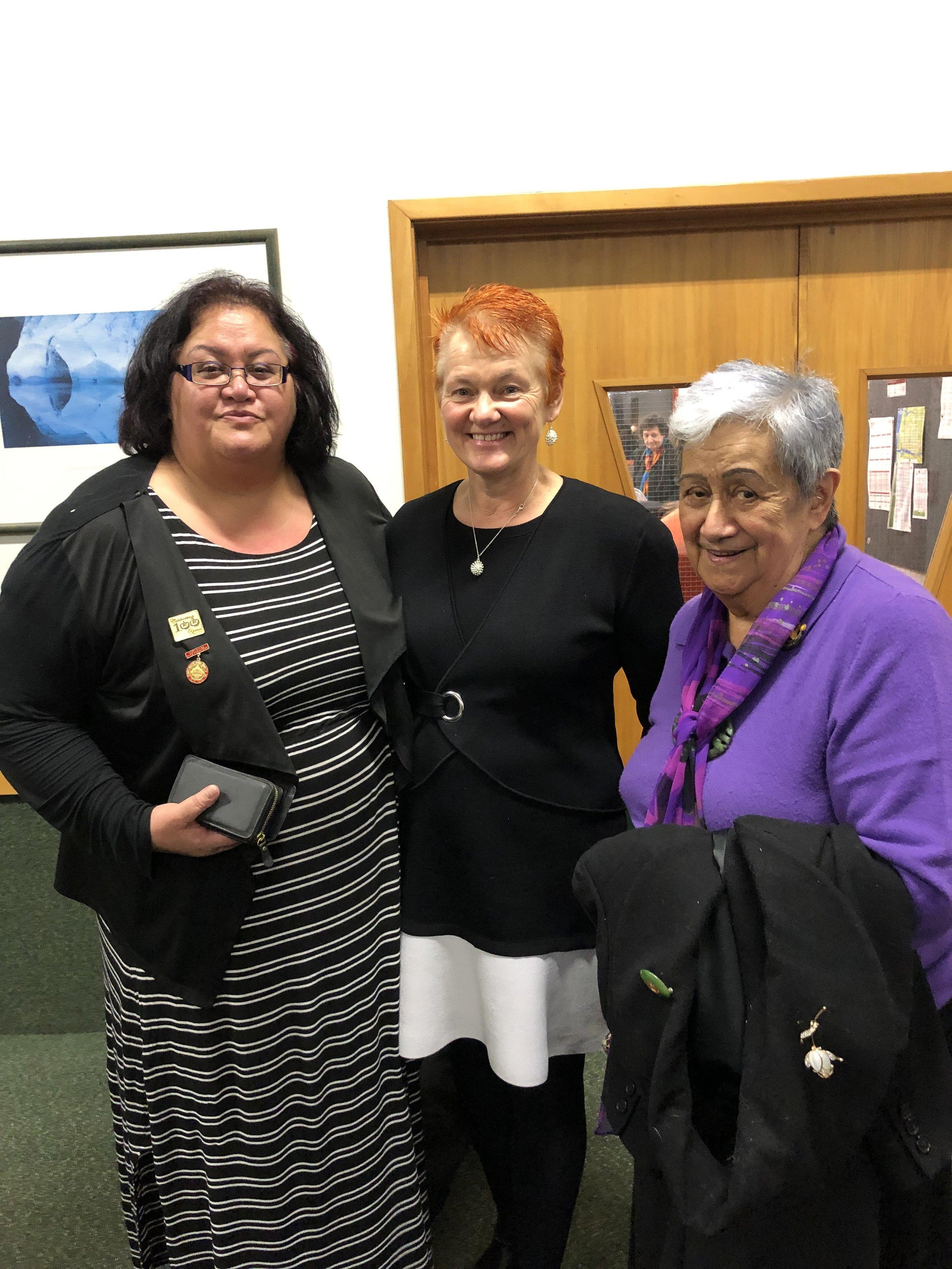 With Taua Aroha Reriti-Crofts and Amiria Reriti.
