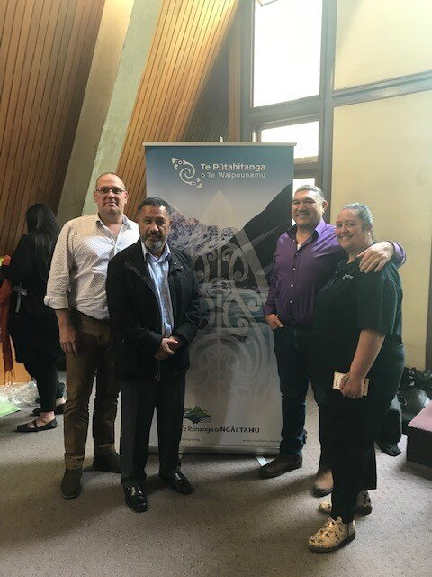 Pari and Serena with our manuhiri from Inland Revenue: Mark Hodges - National Manager, Client Support-Debt Management and Charlie Howe - Director Maori and Pacific