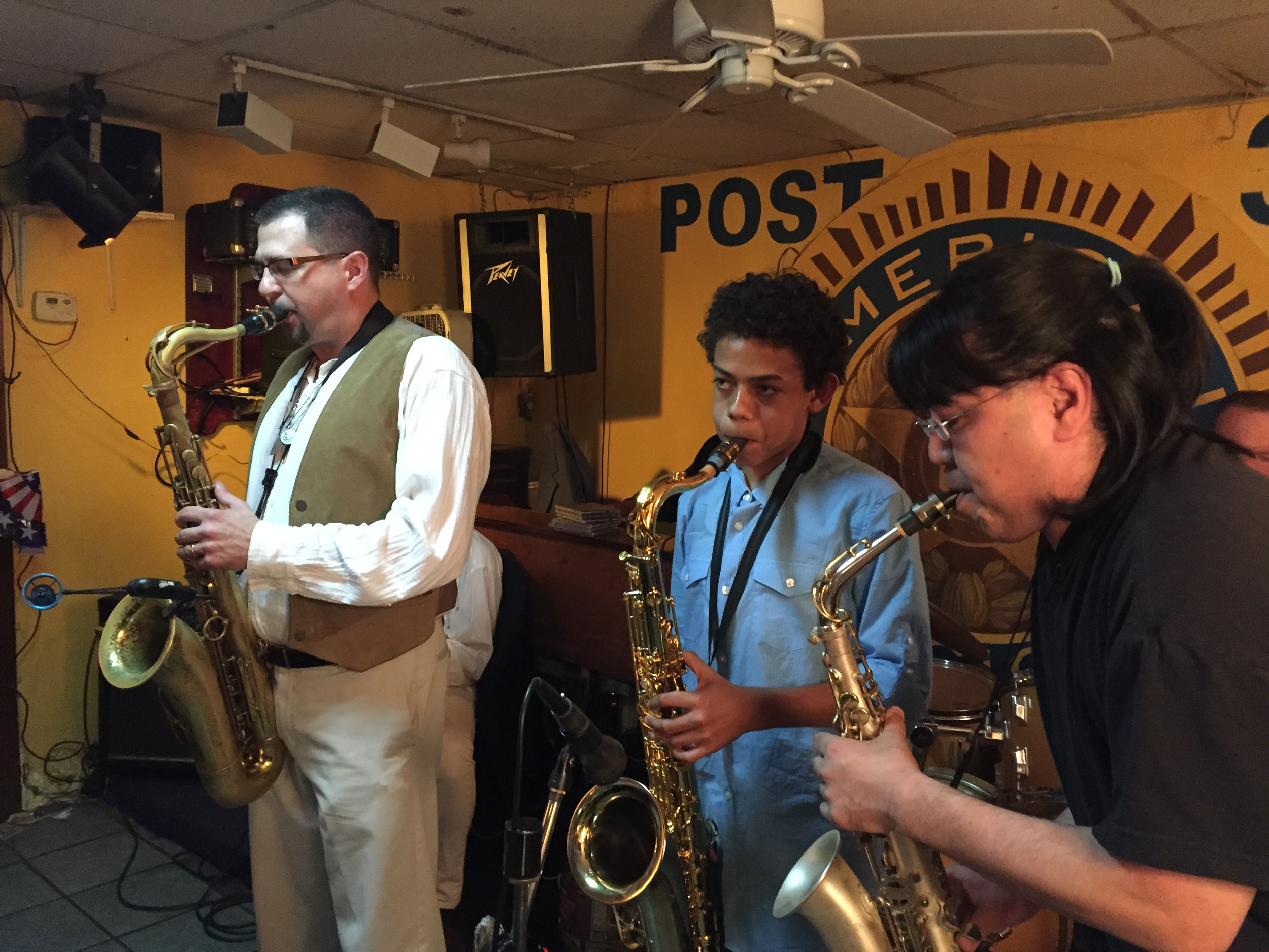 Emilio Modeste at the American Legion playing with  Seleno Clarke's Harlem Groove Band