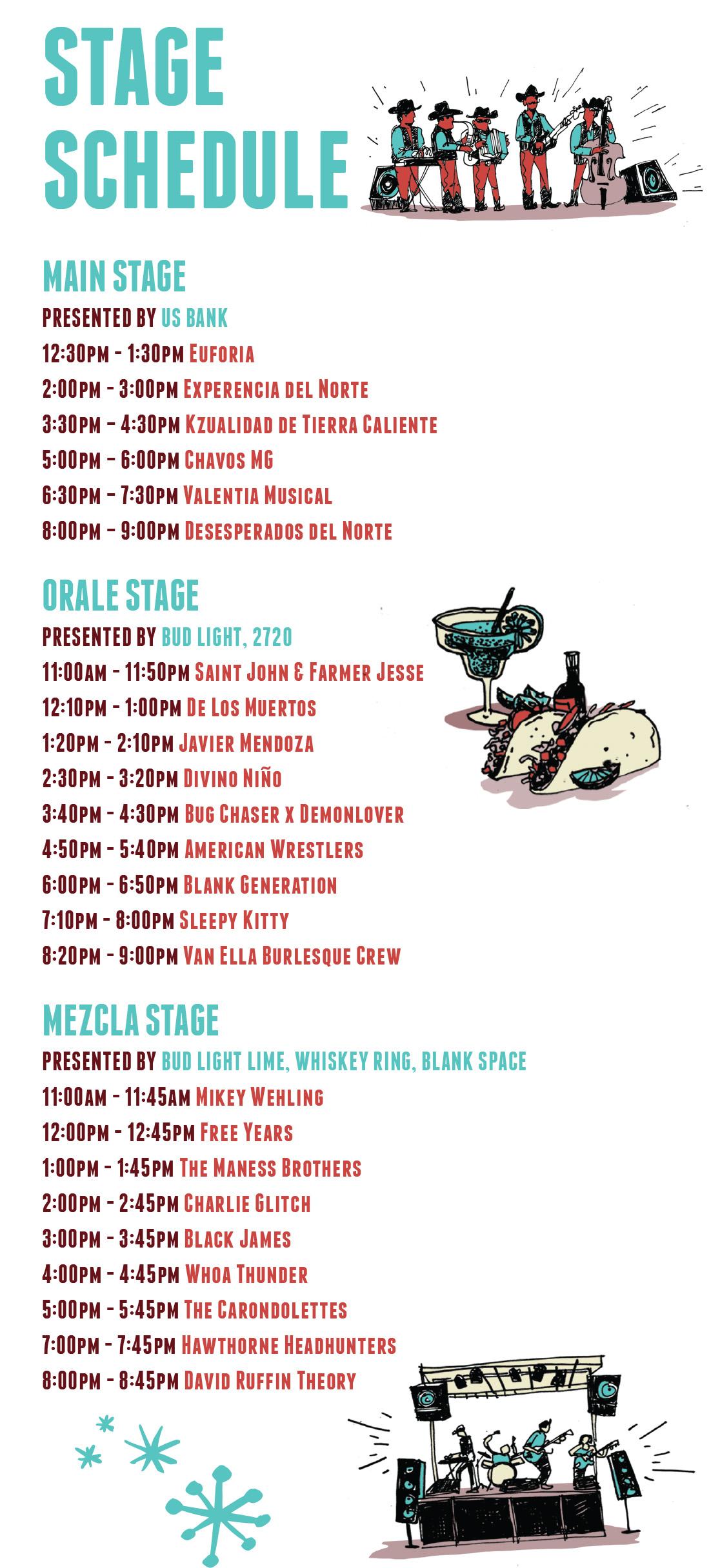 cinco de mayo 2015 cherokee st music schedule