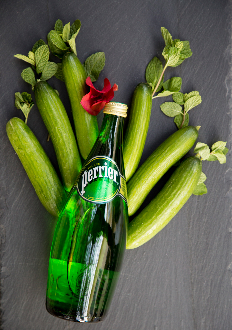 Perrier featured in #HappyHourClub: The Franklin featuring Art in the Age's Rhubarb Tea