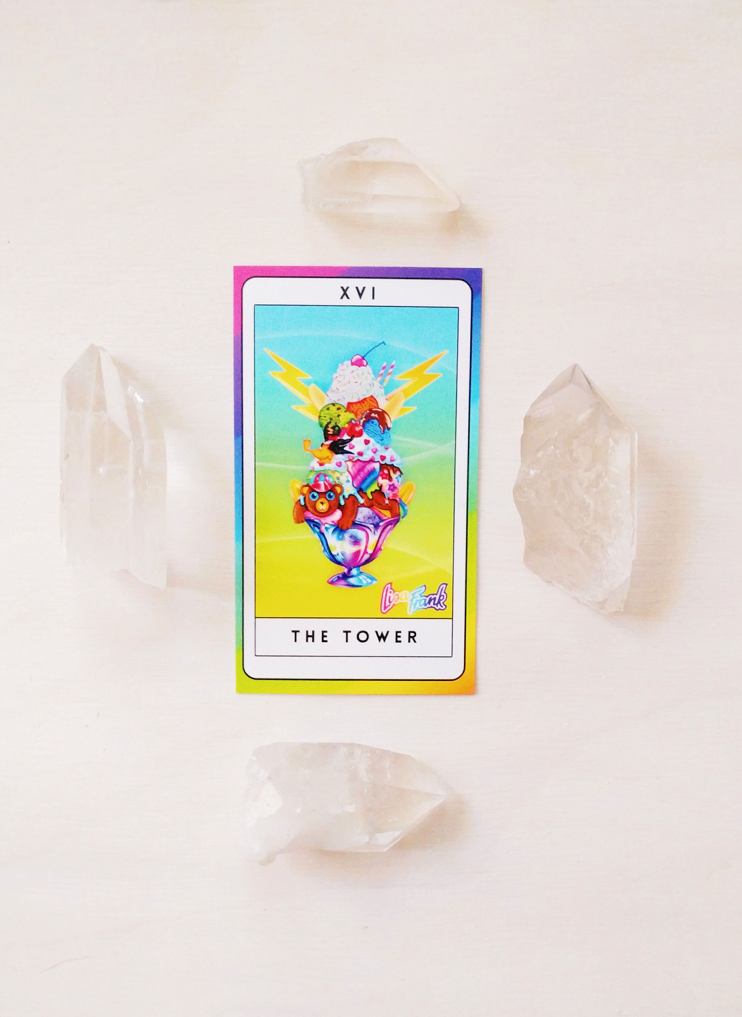 No more fear of the Tower card thanks to Lisa Frank + Louise Androlia