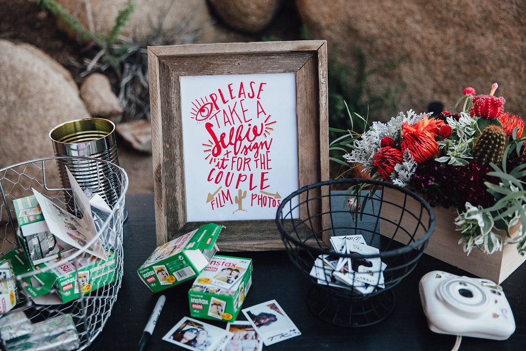 Selfie Station for Guests / Joshua Tree Wedding