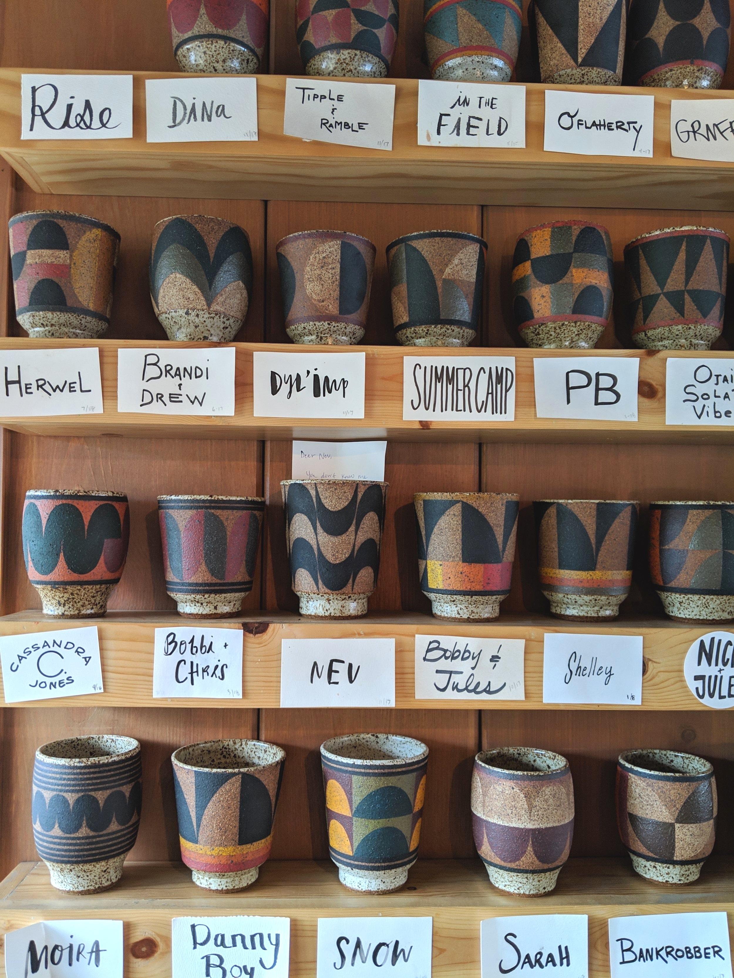 Membership cups at Chief's Peak  Photos taken on Google Pixel 3