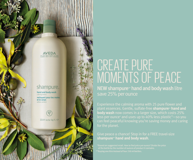 Breathein the shampure  ™    aromaand experience the peaceour calming aroma can bring, by the litre.