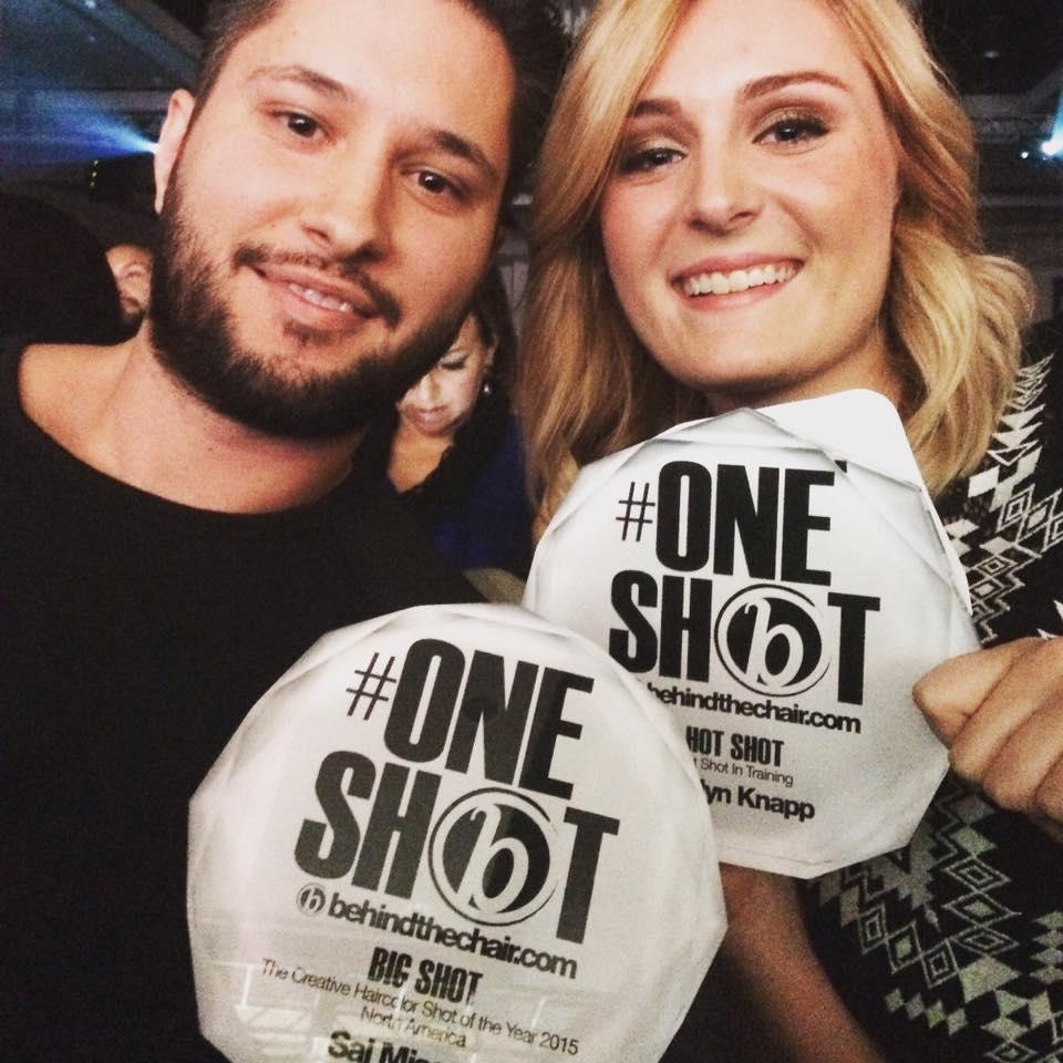 Winners!   Big Shot  Sal Misseri,with  Hot Shot Caitlyn Knapp