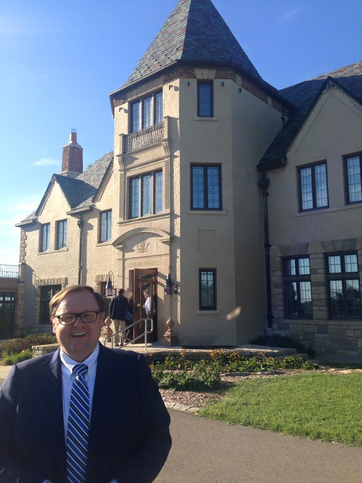 Author Todd Starnes in front of the Governor's Mansion where presenting authors/guests and sponsors were invited for a Friday night celebration. It was a wonderful and special evening.
